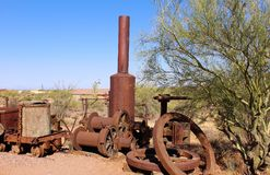 Superstition Mountain Museum. Antique equipment at the Superstition Mountain Lost Dutchman Museum in Apache Junction, Arizona Stock Image
