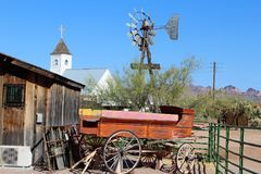 Superstition Mountain Museum. Horse buggy the Superstition Mountain Lost Dutchman Museum in Apache Junction, Arizona Royalty Free Stock Image