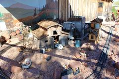 Superstition Mountain Museum. Model railroad exhibit the Superstition Mountain Lost Dutchman Museum in Apache Junction, Arizona Royalty Free Stock Photo