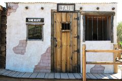 Superstition Mountain Museum. Sheriff and jail building at the Superstition Mountain Lost Dutchman Museum in Apache Junction, Arizona Royalty Free Stock Image
