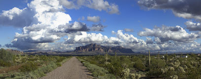 Superstition mountain Royalty Free Stock Image