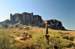 Superstition Mountain Royalty Free Stock Images