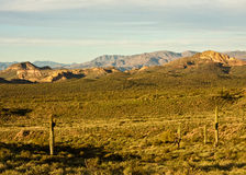 The Superstition Mountains Stock Photography