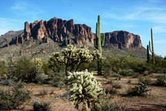 Superstition Mountains Royalty Free Stock Photography