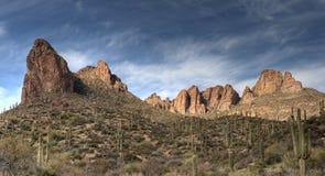 Superstition Mountains in Arizona Stock Photos