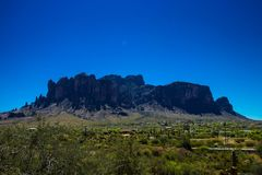 Superstition Mountains of Arizona royalty free stock images