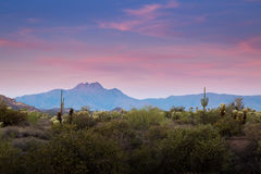 Superstition Mountains in Arizona Royalty Free Stock Image