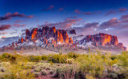 Superstition Mountains Arizona Stock Photo