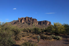 Superstition Mountains looking up from Apache Junction, Arizona Royalty Free Stock Photography
