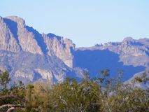 Superstition Mountains. Spring in the desert Stock Photo