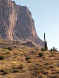 Superstition Ridge. A fine picture of the Arizona desert. It is a balance of rock and cacti Stock Image