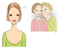 Superstition rouge d'oreilles illustration stock