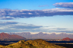 Superstitions and cloud cover - A view from Phoenix, AZ Royalty Free Stock Photo