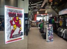 Superstore опыта чуда магазин розничной торговли для вентилятора комиксов супергероев чуда стоковое фото
