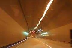 Superstrada del traforo Fotografia Stock