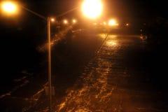 Superstrada sommersa delle regine di Brooklyn causata da Sandy Fotografie Stock Libere da Diritti