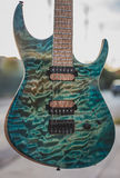 Superstrat gitarr Arkivbilder