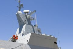 Superstructure of frigate Stock Photo