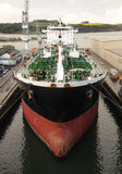 Supertanker in dock Stock Image