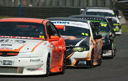 Supertourers V8 bil Racing Royaltyfri Foto