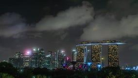 Singapore City at Night Time Lapse