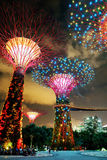Supertrees grove at Gardens by the Bay in Singapore Stock Photos