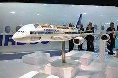 Supertunnel-bohrwagen Airbus-A380 in Singapur Airshow Lizenzfreies Stockfoto