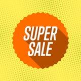 Superverkauf des orange Aufklebers Poa-Kunsthintergrund Stock Abbildung