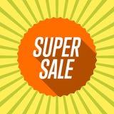 Superverkauf des orange Aufklebers Poa-Kunsthintergrund Vektor Abbildung