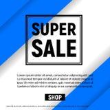 Superverkauf mit Broschüren der Rahmenkommerziellen Grafiken entwerfen Schablonenblaufarbe Stockfotografie