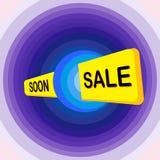 Superverkauf, Vektorsammlung helle Rabattblasentags, Fahnen und Aufkleber stock abbildung