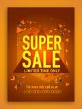 Superverkaufs-Plakat-, Fahnen- oder Fliegerdesign Stockfoto
