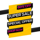 Superverkaufs-Plakat-, Fahnen- oder Fliegerdesign Stockbilder