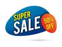 Superverkaufs-Plakat-, Fahnen- oder Fliegerdesign Lizenzfreies Stockbild