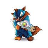 Supervillain кота бесплатная иллюстрация
