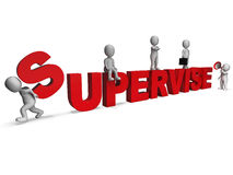 Supervise Characters Shows Management Supervising And Supervisor Stock Photography