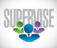 Supervise team sign illustration design graphic Royalty Free Stock Image