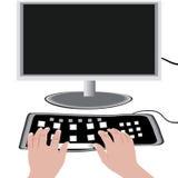 Supervise y un teclado Fotografía de archivo