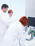 Supervised laboratory analysis Stock Photos