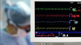 Supervisión del sitio en funcionamiento con los cirujanos almacen de video