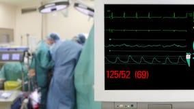 Supervisión paciente en sitio de la cirugía almacen de metraje de vídeo