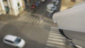 Supervisión y sistemas de vigilancia video almacen de metraje de vídeo