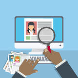 Supervising and accepting resume. Royalty Free Stock Images