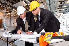 Supervising construction site Stock Image