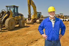 Supervising On Construction Site Royalty Free Stock Images