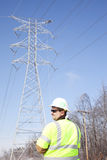 Supervising electric restoration Stock Image