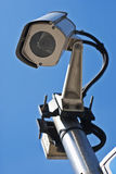 Supervision camera. Pointing downwards close-up Stock Photography