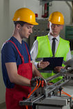 Supervision in a factory Stock Photography