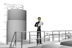 Supervisior no local industrial ilustração royalty free