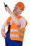 Supervisor de la construcción Imagen de archivo